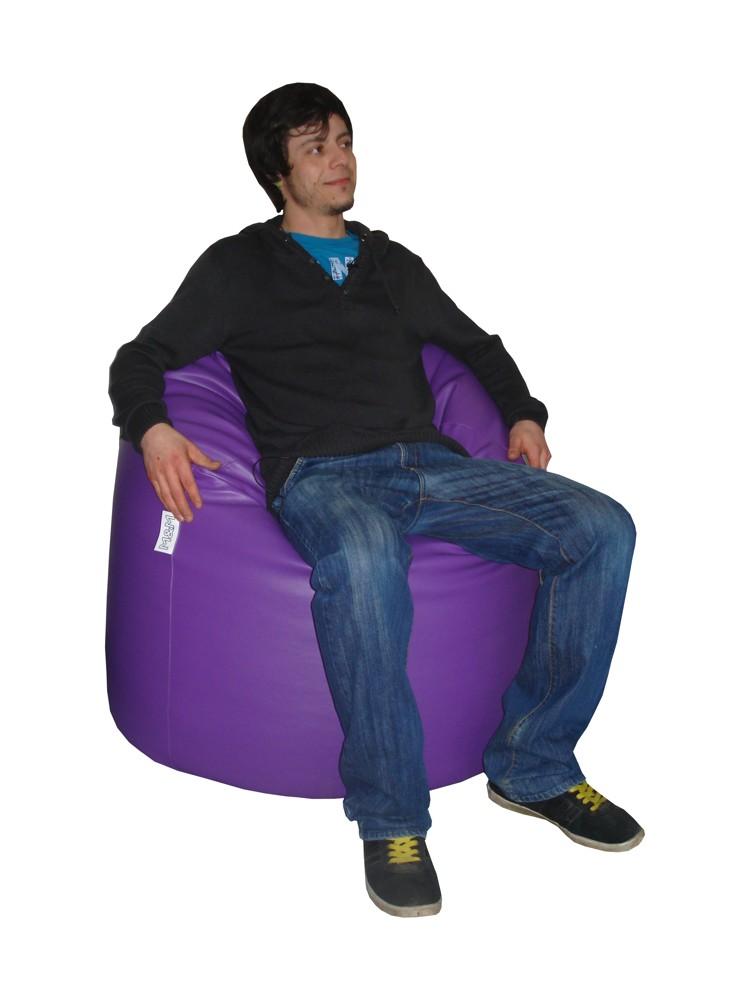 M&M sedací vak hruška Mega 140x80cm fialová (fialová 41524)