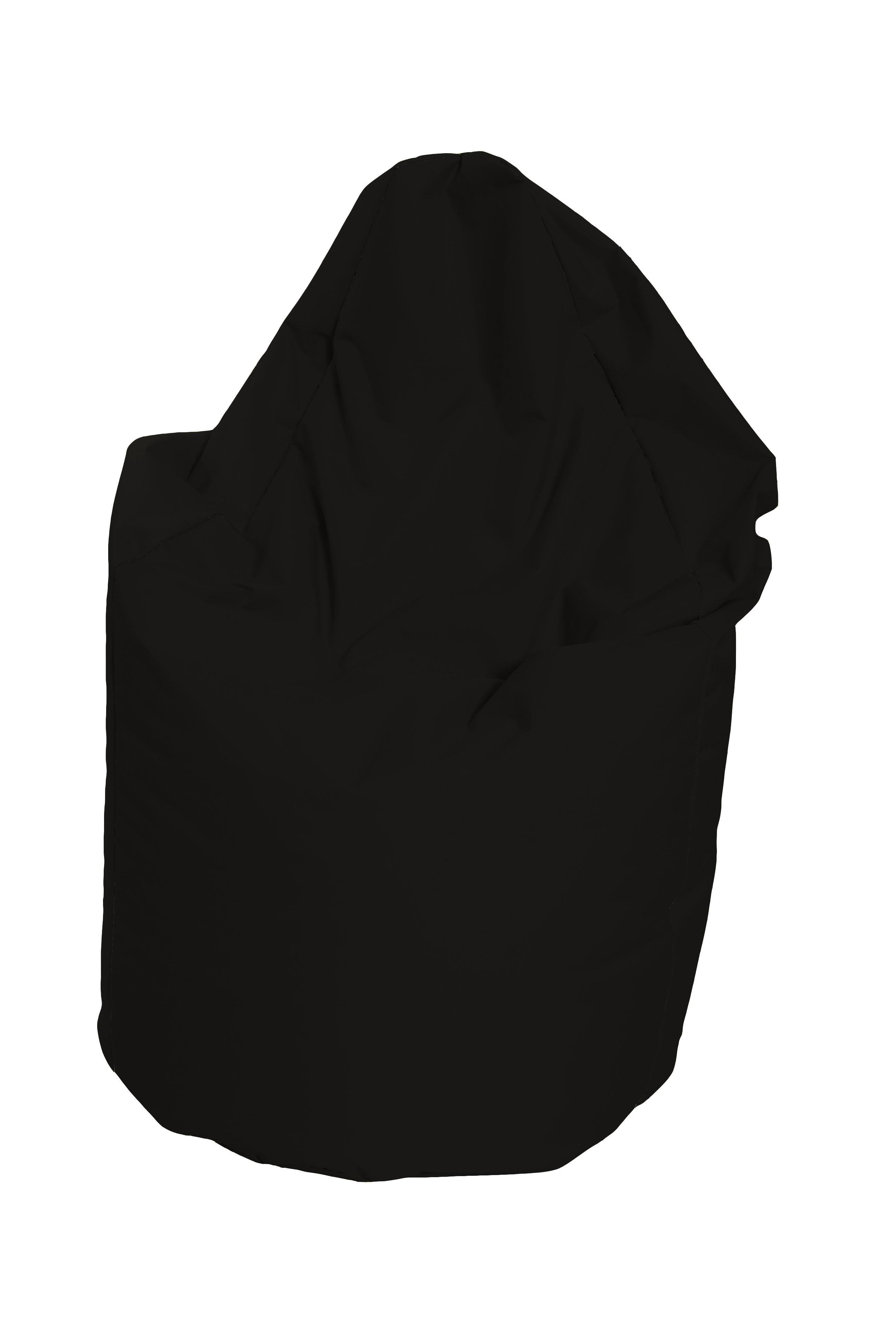 M&M sedací vak hruška Mega s vnitřním obalem 140x80cm černá (černá 80019)