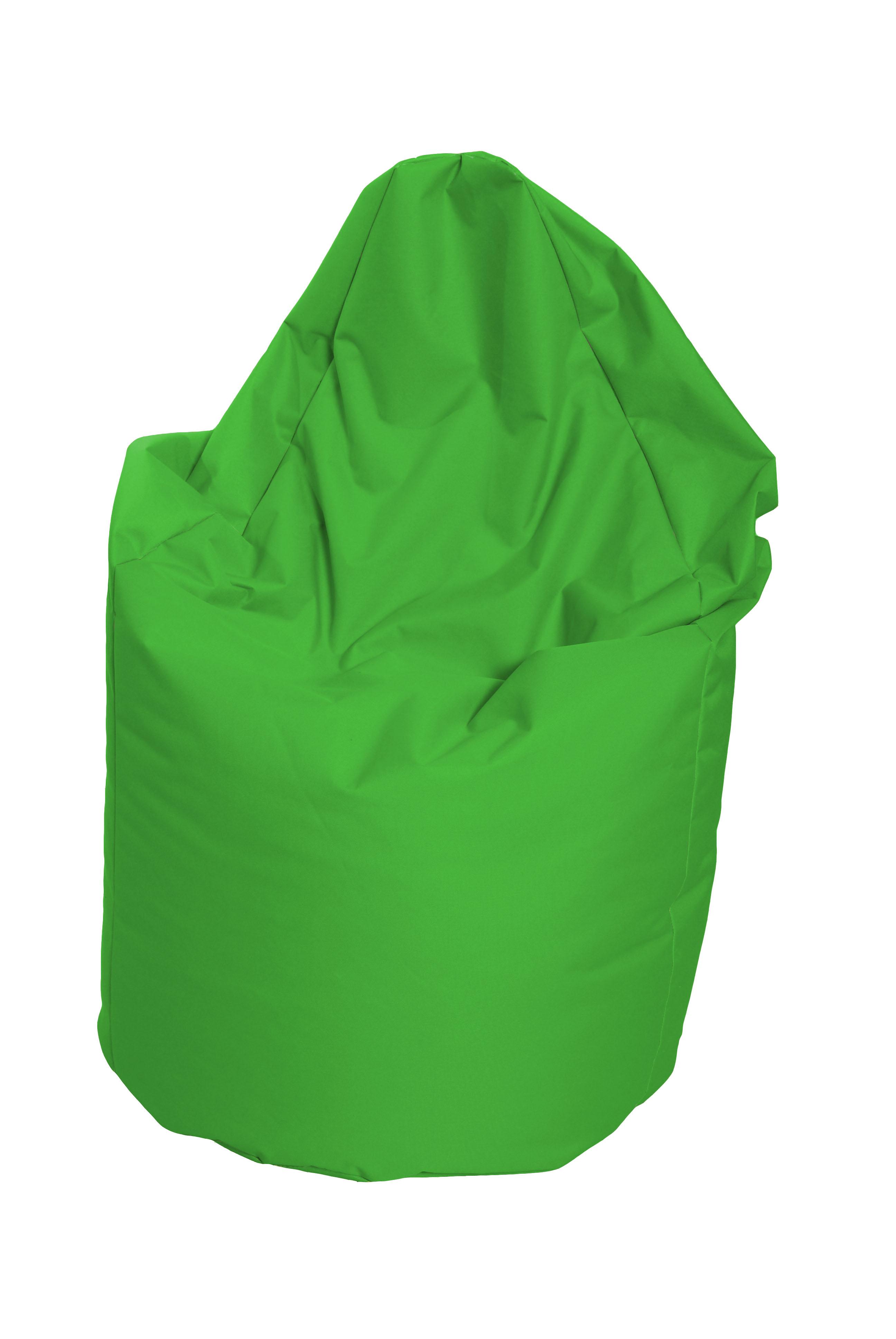 M&M sedací vak hruška Mega s vnitřním obalem 140x80cm zelená (zelená 60166)