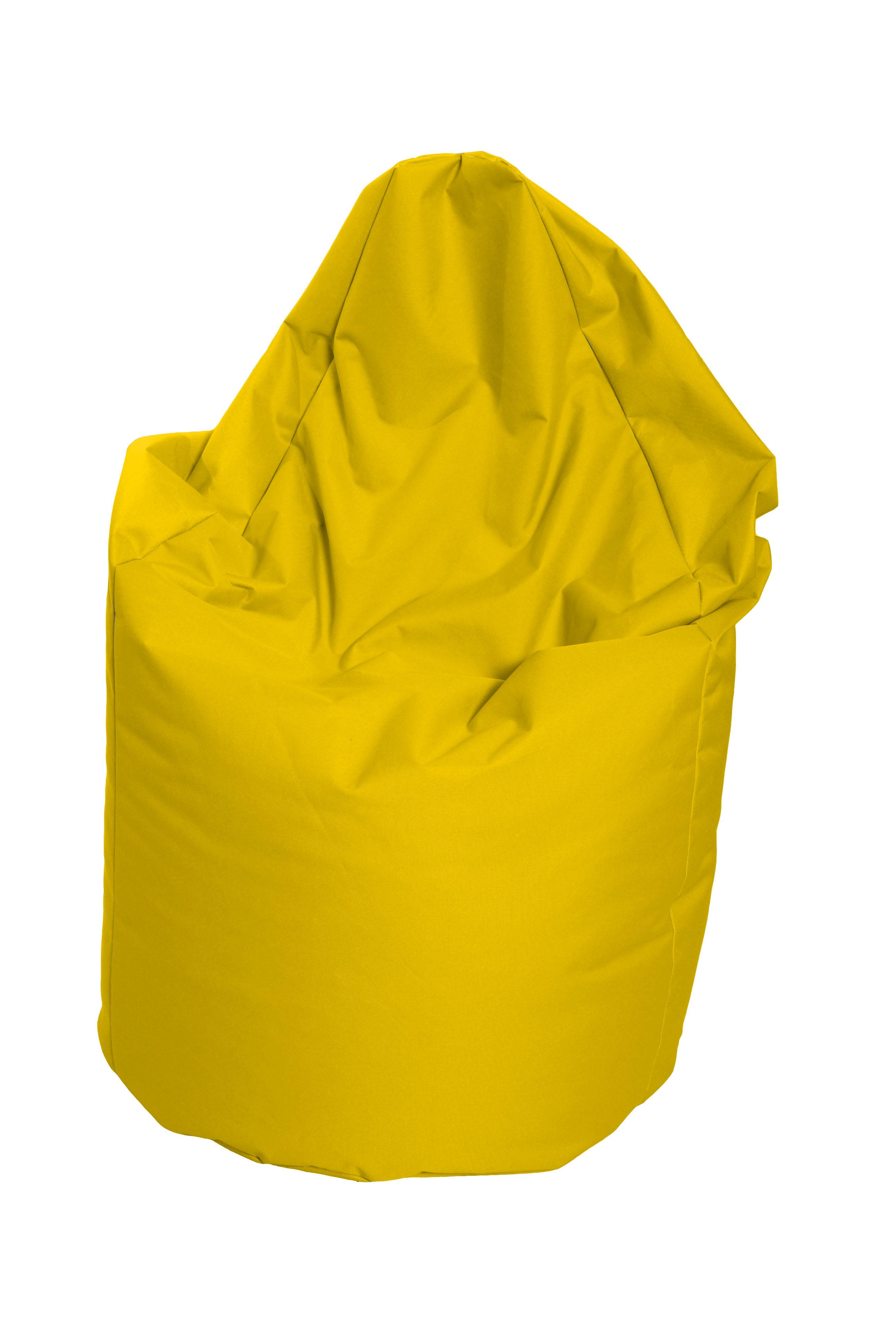 M&M sedací vak hruška Mega s vnitřním obalem 140x80cm žlutá (žlutá 60103)