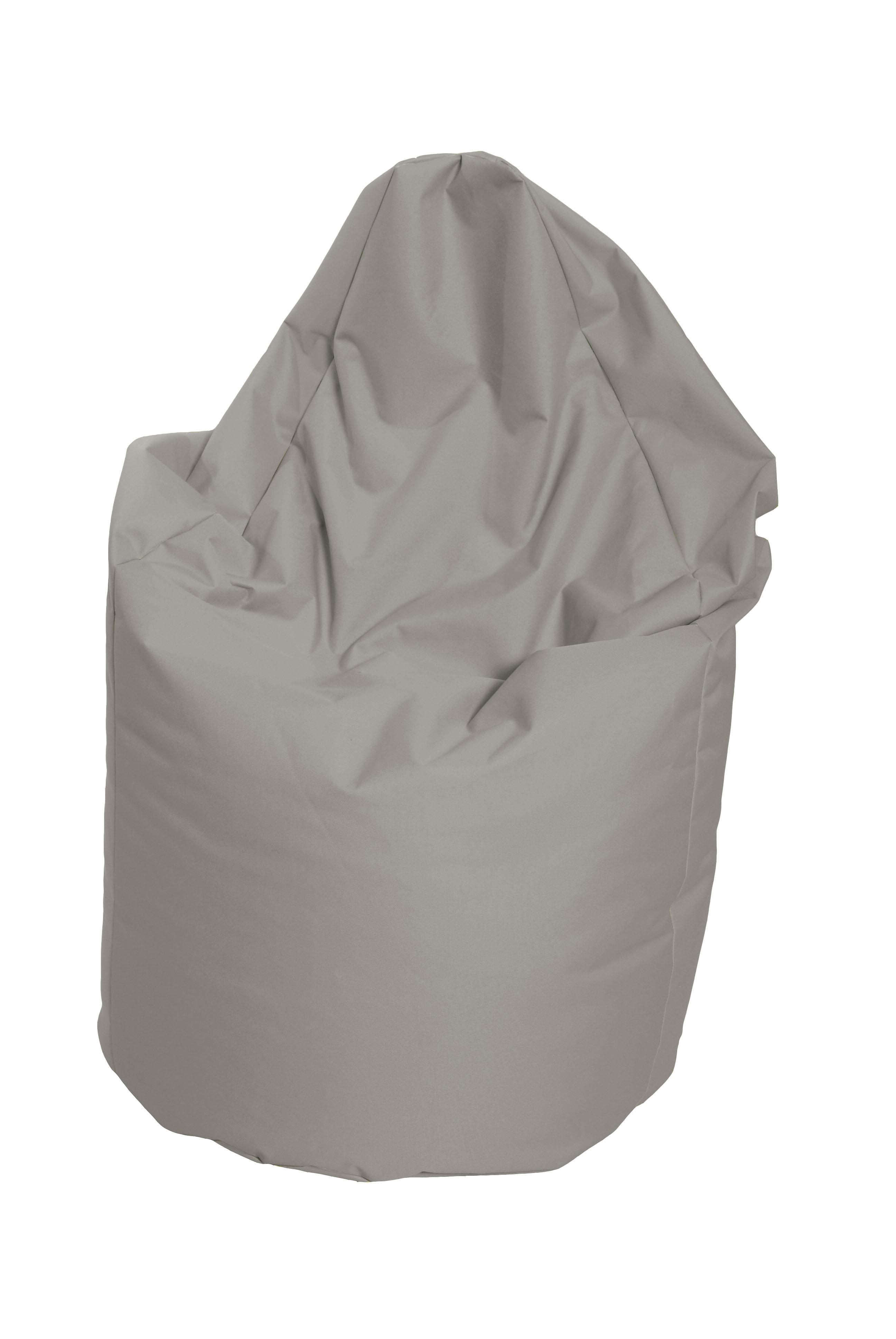 M&M sedací vak hruška Mega s vnitřním obalem 140x80cm šedá (šedá 80058)