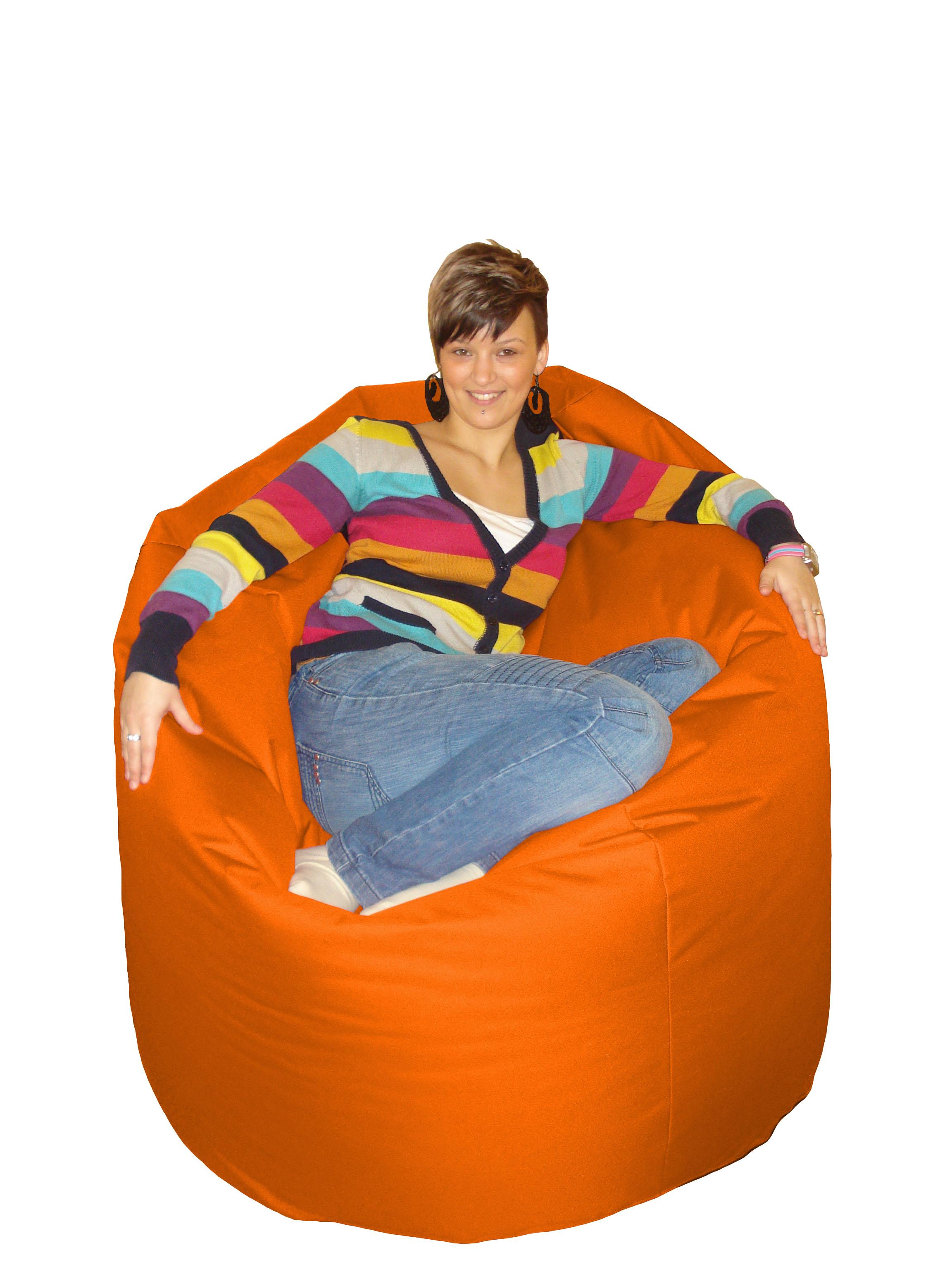M&M sedací hruška 140X100cm Cool oranžová (oranžová 60012)