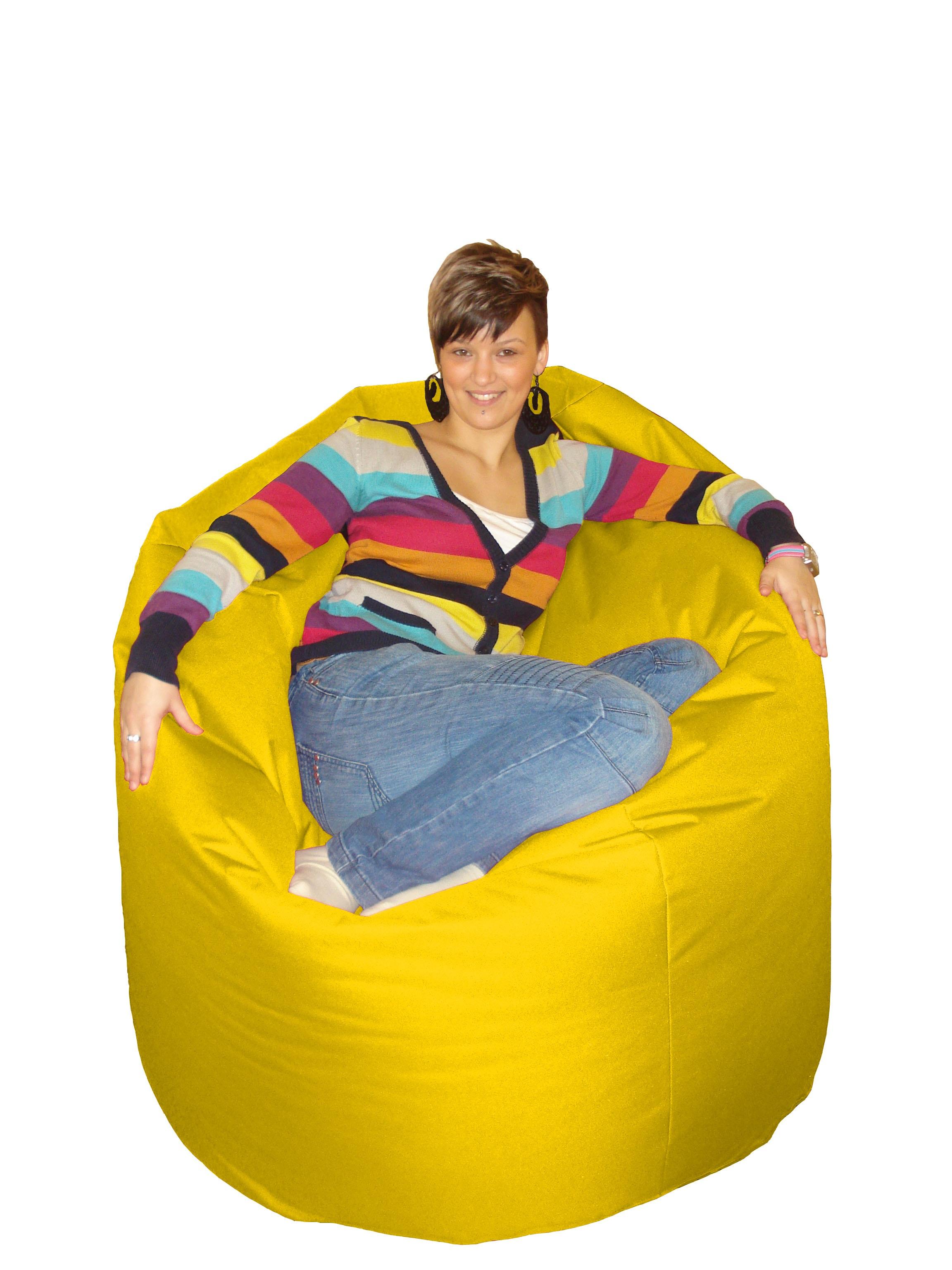 M&M sedací hruška 140X100cm Cool žlutá (žlutá 80021)