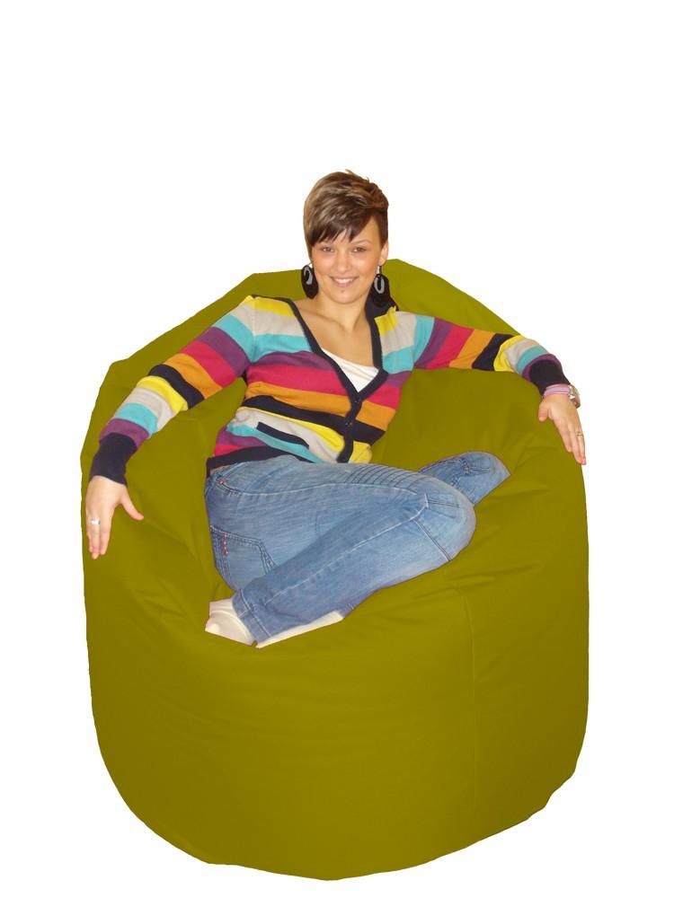 M&M sedací hruška Cool 140x100cm olivová (olivová 51182)